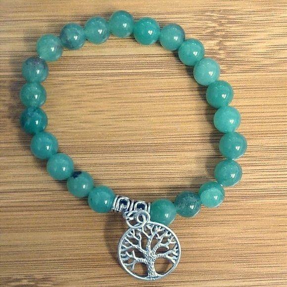 Jewelry - New Green Aventurine Stone Bracelet Tree of Life